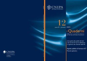i Quaderni n. 12 - Archivio CNIPA