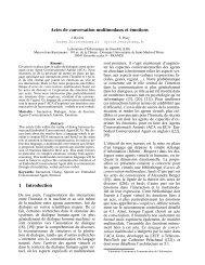 Actes de conversation multimodaux et émotions 1 Introduction - IRIT
