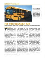 Fit for Cleaner Air - Clean Diesel Technologies