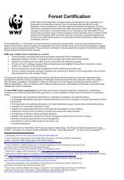 Forest Certification - WWF