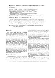 Pentacyclic Triterpenes and Other Constituents from Ficus cordata ...