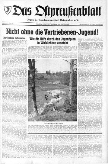 a«> £>ripreußmWcffl - Archiv Preussische Allgemeine Zeitung