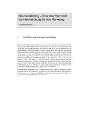 Neuromarketing – Über den Mehrwert der Hirnforschung für das ...