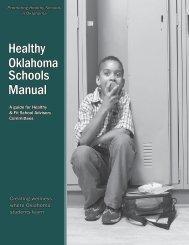 Healthy Oklahoma Schools Manual - State of Oklahoma Web Site