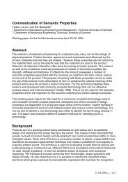 Communication of Semantic Properties Abstract ... - Nordcode