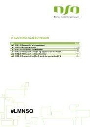 Rapporter og orienteringersaker - Norsk studentorganisasjon