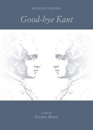 Good-bye Kant - Filosofia.it