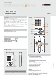 Scheda tecnica CLASSE 100 A12B - Professionisti BTicino