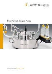 Broschüre Sterisart® Universal Pumpe