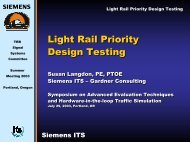 Light Rail Priority Design Testing - Traffic Signal Systems Committee