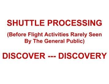 Rarely Seen Space Shuttle Activities - ipmssantarosa