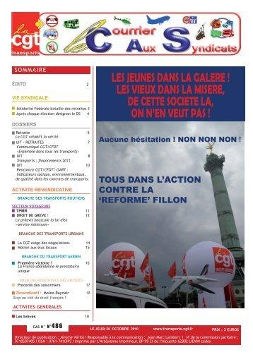 activite revendicative - Fédération CGT des transports - La cgt
