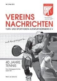 trainings- und übungsplan - TSV Altenfurt