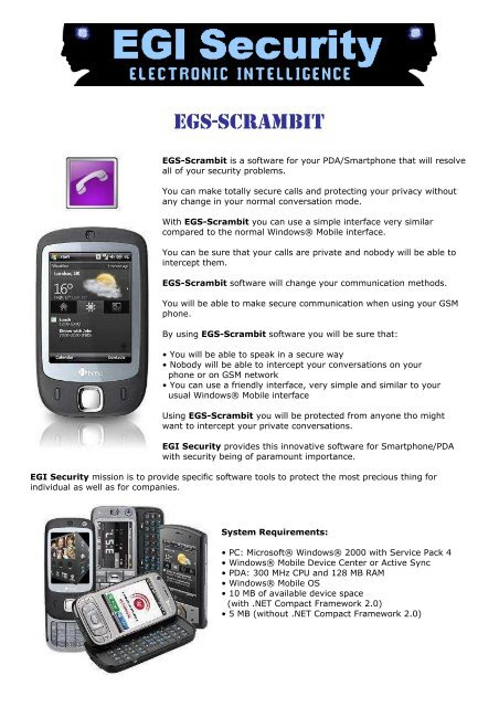 EGS-SCRAMBIT - EGI Security