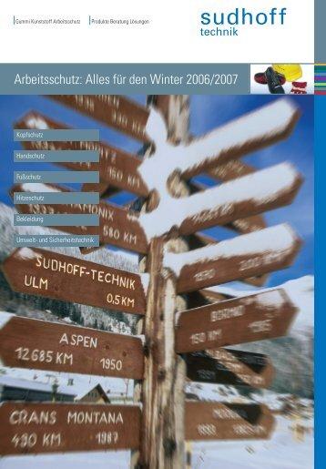 Arbeitsschutz: Alles für den Winter 2006/2007 - sudhoff technik GmbH