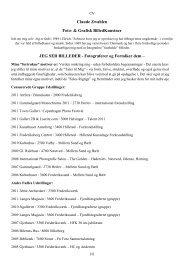 Claude Zwahlen CV.pdf - Selskabet for Dansk Fotografi