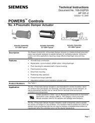 POWERS Controls No. 4 Pneumatic Damper Actuator