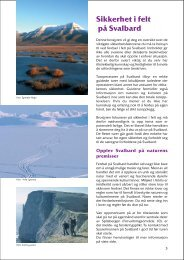 Sikkerhet i felt på Svalbard - Sysselmannen