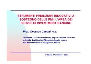 Intervento a cura del prof. Vincenzo Capizzi