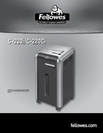 Manuale d'istruzioni C-220i/C-220Ci - Fellowes