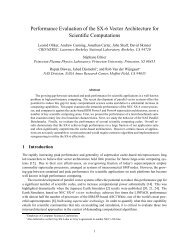 Performance Evaluation of the SX-6 Vector Architecture for Scientific ...
