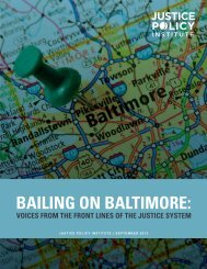 Bailing on Baltimore: - Justice Policy Institute