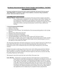 psychology department's honors thesis guidelines - Connecticut ...