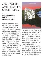 2000-TALETS AMERIKANSKA MÄSTERVERK - Läs en bok