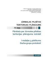 Pārskats par Jūrmalas pilsētas teritorijas plānojuma izstrādi I ...