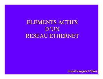 elements actifs d'un reseau ethernet - Site de Jean-François L'haire