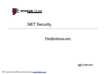NET Security - XCon