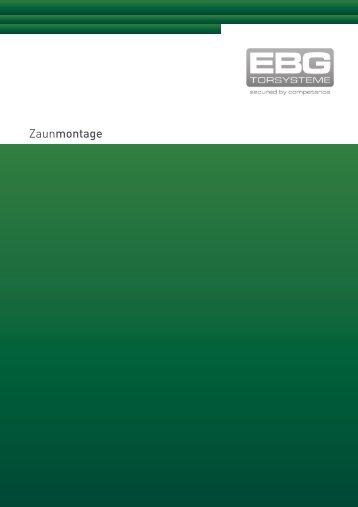 Zaunmontage - EBG Torsysteme