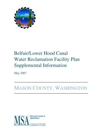 Belfair/Lower Hood Canal Water Reclamation ... - Mason County