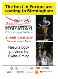 Results book provided by Swiss Timing