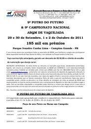 Circular e Regulamento - Portal Do Equino