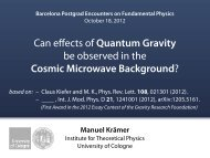 Can effects of Quantum Gravity be observed in the Cosmic ...