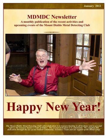 January 2012 Newsletter - Mt. Diablo Detectors
