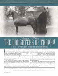 rophy was foaled 63 years ago. His last foal arrived in 1979 ...