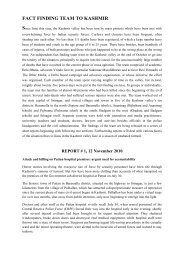 Fact Finding Report On Kashmir - Countercurrents.org