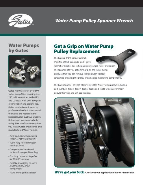 Engine Water Pump-Water Pump Gates 43034 Standard