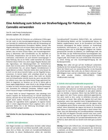 Eine Anleitung zum Schutz vor Strafverfolgung für Patienten, die ...