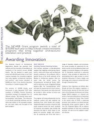 Rewarding Innovation - NCARB