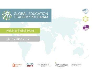 Helsinki Global Event 14 - 17 June 2012 - Global Education Leaders ...