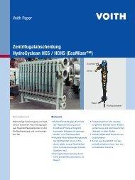 Zentrifugalabscheidung HydroCyclean HC5 / HCH5 ... - Voith