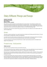Dairy Effluent: Pumps and Sumps - DairyTas