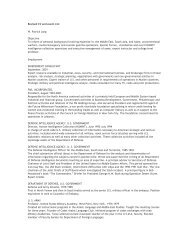 Revised CV and event List W. Patrick Lang Objective To inform of ...