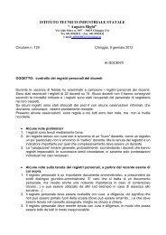 "ISTITUTO TECNICO INDUSTRIALE STATALE "" Augusto Righi"""