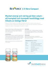 Resource 2.5 fibre Compact - Nestlé Nutrition