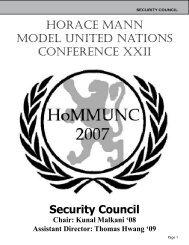 Background Guide - Horace Mann Model United Nations