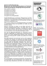 Aufruf an die Bundesregierung - Utta Reich-Schottky